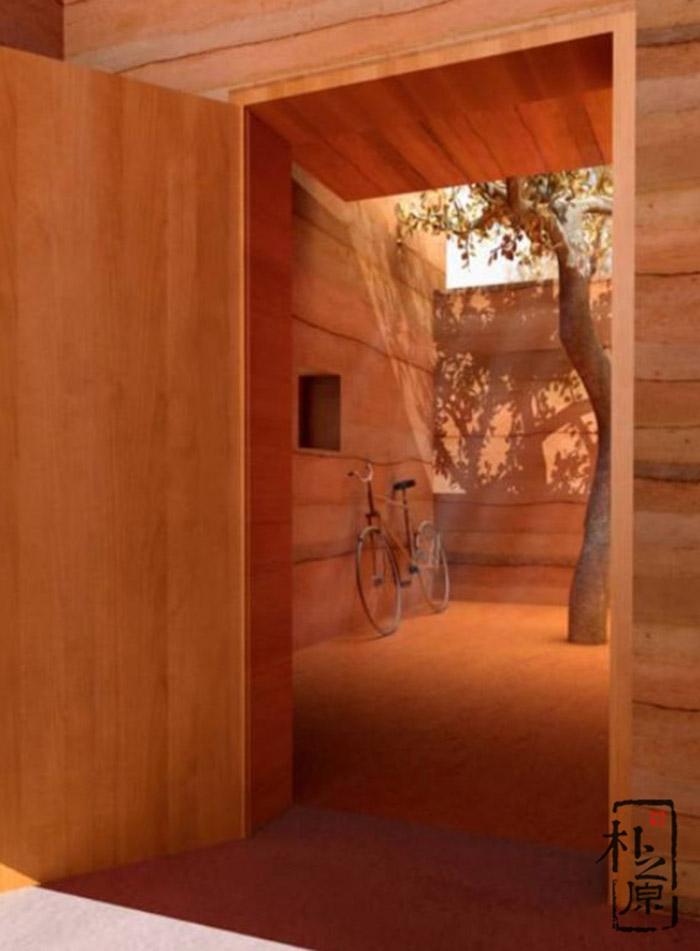 现代夯土建筑墙体的设计