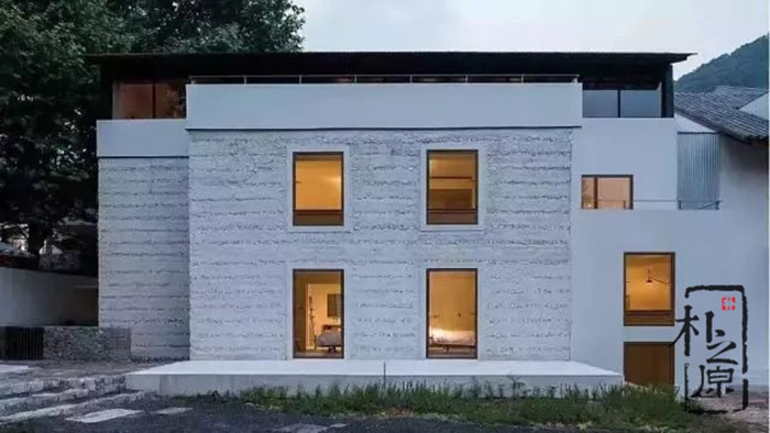夯土墙设计:质朴而有味道的民宿生活