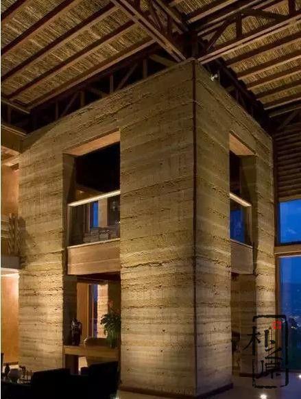 现代夯土墙建筑