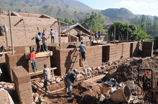 传统夯土墙工艺