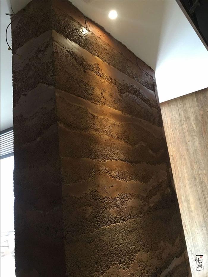 夯土墙墙面