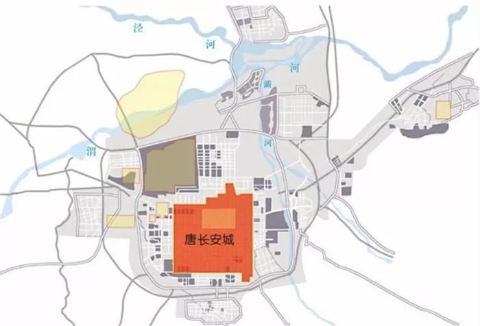 西安长安城比较图