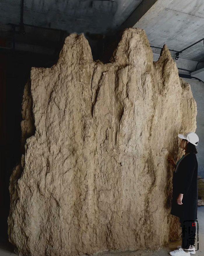 夯土墙雕塑