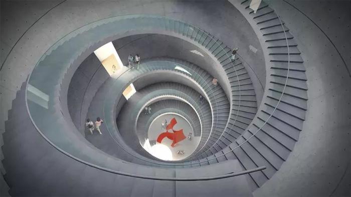 清水混凝土楼梯