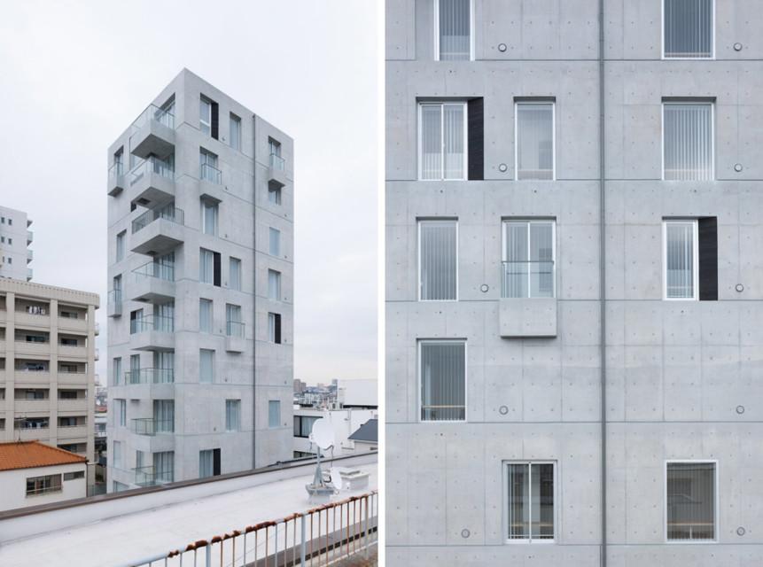 建筑设计:清水混凝土公寓