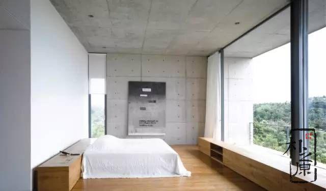 清水混凝土卧室