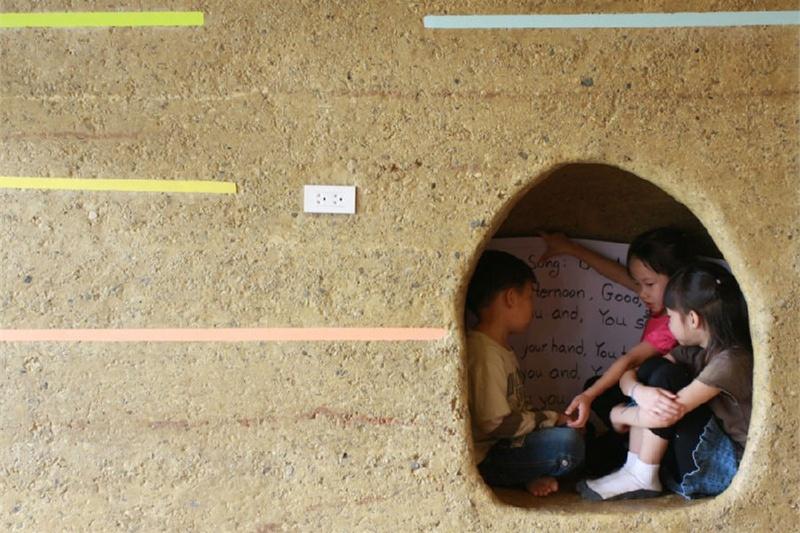 六一快乐:用竹子、夯土墙建学校(中)