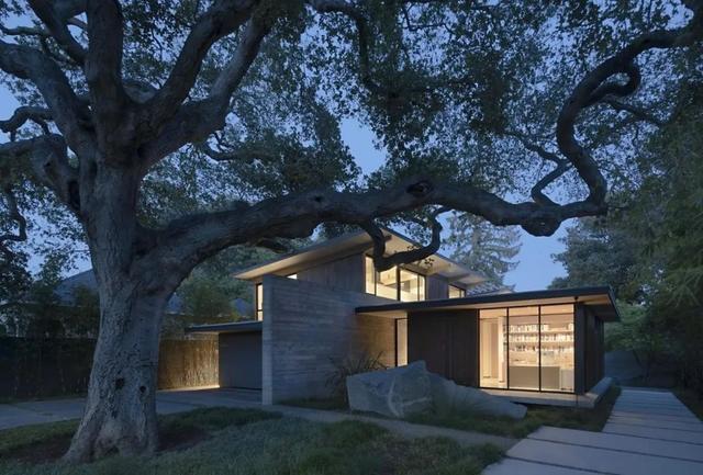 清水混凝土设计:自然别墅