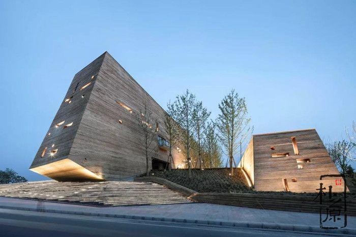 朴之原建筑肌理研究院:现代新型夯土墙,生态环保,自然百变