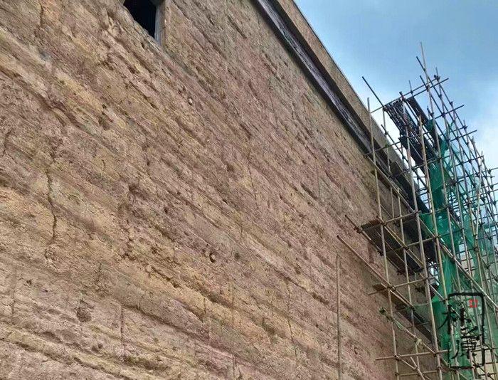朴之原夯土墙施工