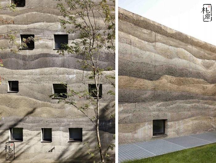 夯土墙建筑肌理的技艺美