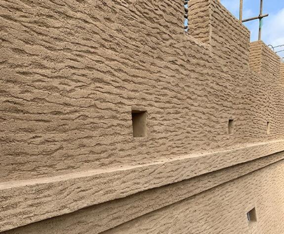 黄河黄土地的夯土墙建筑(一)